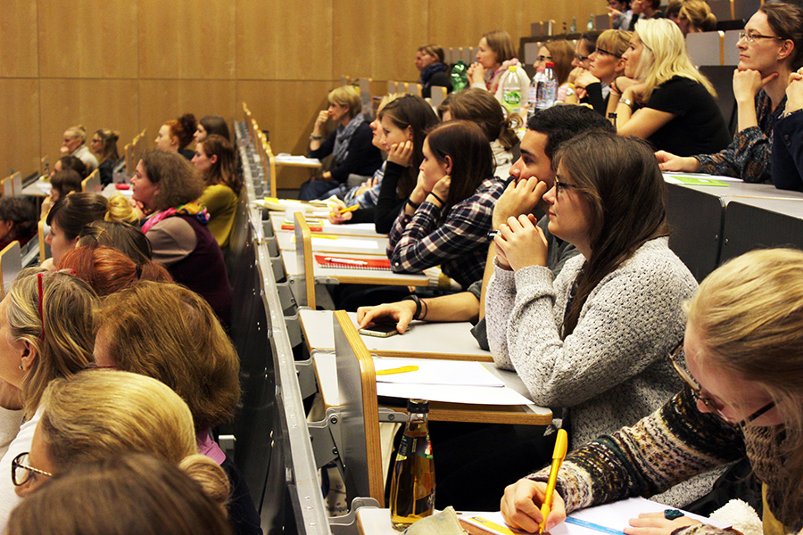 Während der Vorträge