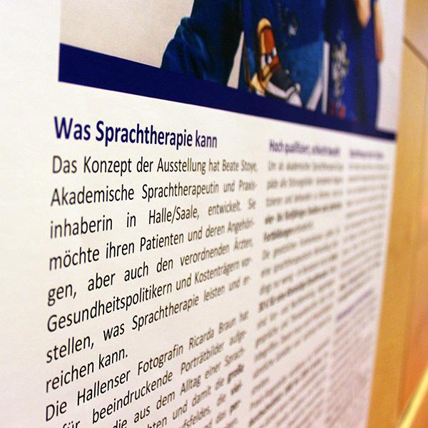 Die dbs-Ausstellung »Was Sprachtherapie kann«