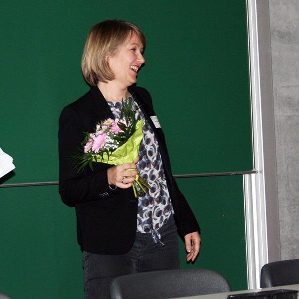 Dr. Astrid Schröder nach dem Vortrag