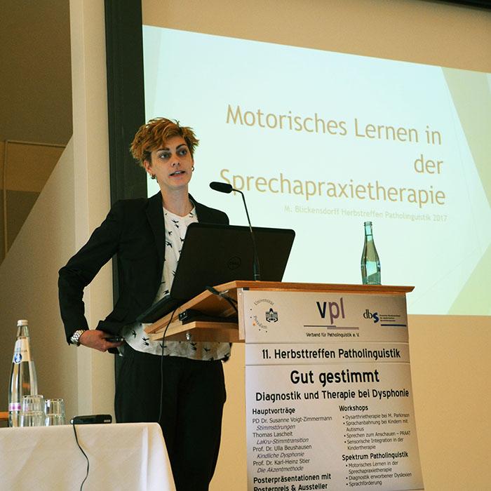Vortrag von Maria Blickensdorff