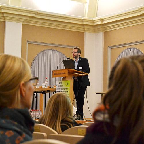 Tobias Haase beim Vortrag